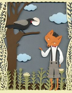 Elsa Mora is so unbelievably talented. Her papercuts blow my mind. - The Fox and the Crow