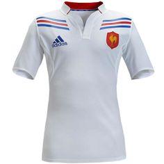 Maillot de rugby du XV de France adidas blanc. Maillot pour la saison 2012-2013. Livraison gratuite ! 78.90 € sur www.rugbyland.fr
