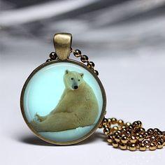 Pendelketten - Schmuck Eisbär Alaska Halsketten-Anhänger - ein Designerstück von MadamebutterflyMeagan bei DaWanda