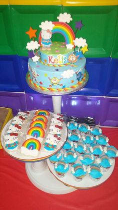 Kena H's Birthday / Rainbow Brite Hello Kitty - Photo Gallery at Catch My Party 7th Birthday, Birthday Parties, Birthday Cake, Hello Kitty Photos, Rainbow Parties, Hello Kitty Birthday, Kitty Party, Rainbow Brite, Fondant