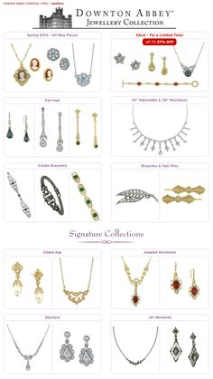 Shop PBS - New Collections: Downton Abbey Jewellery