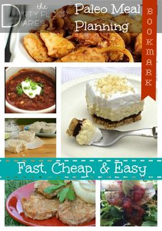 Eating healthy food CAN Be Fast, Cheap, & Easy.    #Paleo Meal Planning - Fast, Cheap, & Easy. Complete with a printable shopping list!