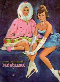 Vintage 1964 Ice Follies Program, Very Good Condition