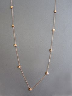 15 RoseGold Star Necklace Long necklace star necklace by Jewelry Design Earrings, Gold Earrings Designs, Star Jewelry, Gold Jewellery Design, Gold Chain Design, Gold Jewelry Simple, Silver Jewelry, Silver Earrings, Gold Mangalsutra Designs