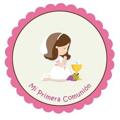 Items similar to First Communion Sticker First Communion Favor Tag. Holy Communion Sticker Choose Hair and Complexion on Etsy Communion Party Favors, Première Communion, First Communion Party, Communion Invitations, Baptism Party, First Holy Communion, Communion Cakes, Party Kit, Party Ideas