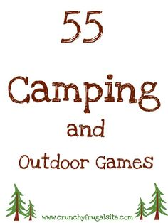 Going camping? Check out these 55 Outdoor and Camping Games for Kids! It will en. Camping Activities For Kids Camping Games Kids, Camping Bedarf, Girl Scout Camping, Camping With Kids, Family Camping, Camping Hacks, Outdoor Camping, Camping Outdoors, Camping Recipes