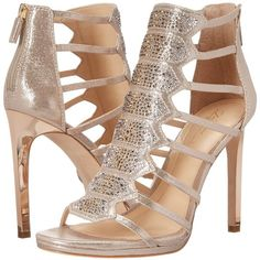 Imagine Vince Camuto Gavin (Soft Gold) Women's Shoes ($180) ❤ liked on Polyvore featuring shoes, metallic platform shoes, leather sole shoes, special occasion shoes, gold evening shoes and holiday shoes