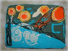 """""""Starry Night"""" (Sugar Art For Autism) - Cake by Sweet Dreams by Heba Elalfy"""