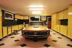 I would love to build this garage for my husband! The car can come with it.