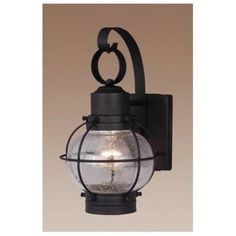 Vaxcel Lighting OW21861TB Nautical 7 in. 1 Light Outdoor Wall Sconce Light in Textured Black