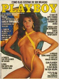 Playboy Brazil May 1986 Cover featured by Luíza Brunet