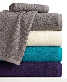 Bianca Bath Towels, Chevron x Hand Towel - Bath Towels - Bed & Bath - Macy's Bath Towel Storage, Bath Towel Sets, Best Bath Towels, Hand Towels, Bathroom Towel Decor, Bathroom Ideas, Bathroom Makeovers, Bathroom Faucets, Terry Towel