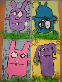 """Ugly bunnies...would be cute to follow up with fifth grade after they finish sewing their own """"Ugly Dolls"""". :)"""