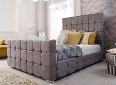 -Available in all sizes -choose your own colour -select your fabric Ottoman Storage Bed, Bed Storage, New Furniture, Furniture Design, Home Bedroom, Bedroom Decor, Sleigh Bed Frame, Mattress Manufacturers, Apartments Decorating