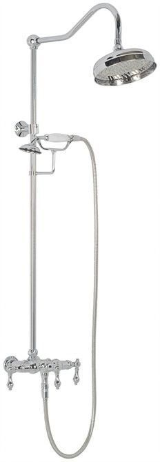 clawfoot tub shower head. Elizabethan Classics Wall Mount Exposed Hand Shower and Head Combo  Kit Porcelain Lever Handles in Satin SN The Home Depot Randolph Morris Clawfoot Tub Enclosure with Faucet