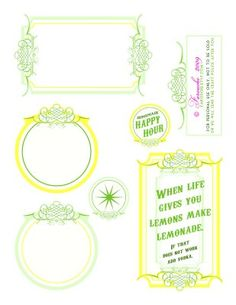 lemonade printables (Felicity wants to have a lemonade stand)