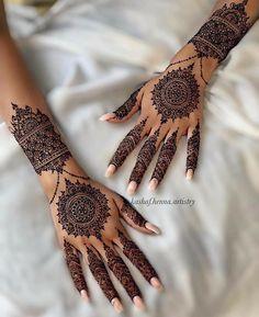 Mandala Tattoo Design, Henna Tattoo Designs, Tribal Henna Designs, Henna Flower Designs, Pretty Henna Designs, Latest Henna Designs, Finger Henna Designs, Mehndi Designs For Girls, Mehndi Designs For Beginners