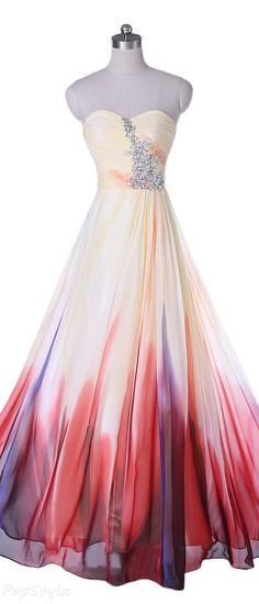 Sunvary 2015 Gradient Long Rhinestone Accent Gown