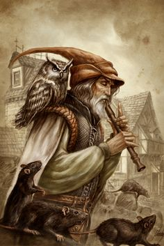 The pied piper Character Concept, Character Art, Character Design, D D Characters, Fantasy Characters, Dnd Bard, Grimm, The Legend Of Heroes, Pathfinder Rpg