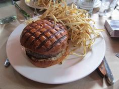 Chargrilled Burger with Roquefort & Shoestrings. The Spotted Pig, New York City. $17
