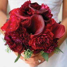 фото свадебного букета из бордовых роз - Поиск в Google