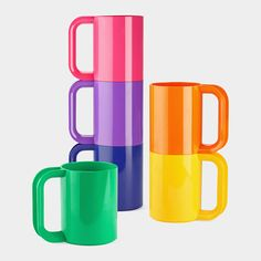 Rainbow Mugs momastore.org I'm totally getting these for Harper when she's older! Happy memories from my childhood.