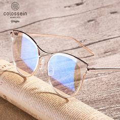 7bfc21358faac Cheap Sunglasses, Buy Directly from China Suppliers COLOSSEIN Pinglas Cat  eye Sunglasses Women Flat Eyewear Coating Glasses Golden Metal Frame oculos  de sol ...