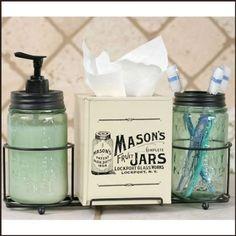 Mason Jar Bathroom Caddy -