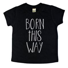 Born This Way graphic tee. This design is screen printed by hand on a very soft, high quality black shirt. How does this style fit? These shirts are true to size and cut to be slightly more fitted than a normal boxy tee. When in doubt, we suggest sizing up. When will my shirt ship?  Your order will ship out within 10 business days. How can I style this top?  Check us out on Instagram feed at www.instagram.com/b.gatsby for examples. What other products do you sell? See more of our product...