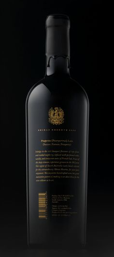 Prosperitas Wine (Branding and Label Design) by Gjoko Muratovski, via Behance #vinosmaximum