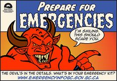 The devil's in the details. What's in your emergency kit? E-card by Emergency Info BC