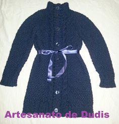 Artesanato de Dudis 2: Casaco de senhora em tricot / Knitting lady coat