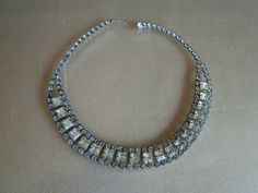 Hollywood Style Vintage Rhinestone Necklace by tintiara on Etsy