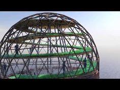Dome geodesic F4- Cupula geodesica - Geodätische Kuppel - YouTube