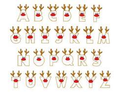X mas reindeer letters applique designs. via Etsy. Christmas Alphabet, Christmas Fonts, Christmas Doodles, Christmas Applique, Christmas Art, Christmas Holidays, Christmas Tables, Nordic Christmas, Modern Christmas