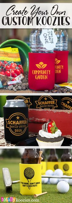 Create your own custom #koozies! We offer hundreds of stock art designs to make it easy to customize your info for your business, event, party, reunion, graduation, holidays get-togethers more! We have a variety of styles, colors & sizes to compliment any event! Use coupon code PINNER10 and receive 10% off your koozie order! Sale applies to piece price only, not valid with other coupon codes and expires 11.8.17!