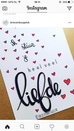 liefde - geluk Cool Gifts, Diy Gifts, Birthday Quotes, Birthday Cards, Scrapbook Letters, Bullet Journal Quotes, Wood Burning Crafts, Marianne Design, Brush Lettering