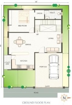 Download free #Autocad #drawing of House Space Planning 25 ...