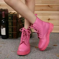 Pink qq leather.