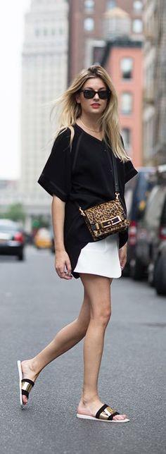 #summer #fashion / monochrome