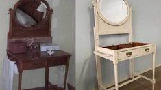 Pintar una coqueta antigua Renueva con pintura tus muebles antiguos Color Nogal, Vanity, Furniture, Home Decor, Furniture Makeover, Antique Furniture, House Decorations, Wood, How To Paint