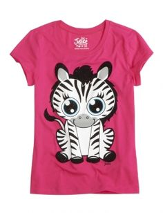 Justice Clothes for Girls Outlet | Zebra Graphic Tee | Girls Graphic Tees Clothes | Shop Justice
