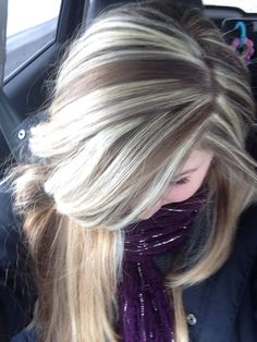 Blonde and brown - highlights lowlights, long hairstyles
