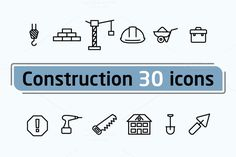Construction icons by Leone_v on Creative Market
