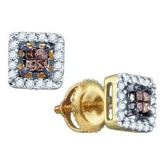 1/3CT-Diamond INVISIBLE EARRINGS