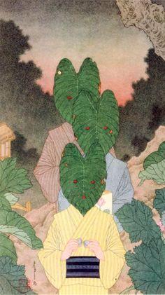 紀伊國屋書店にて、山本タカト展。泉鏡花『草迷宮』の挿絵に加えて、寺山修司『身毒丸』関連の作品も展示されていた。会場に足を運んで、女性ファンの多さを確認できた。画像は、「芋莄の葉の仮面の小児たち」(2014年)。〜2/19。