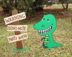 Gran dinosaurio niños fiesta foto Stand cabeza de por LMPhotoProps