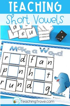 Are you looking for fun short vowel sounds activities for your first grade or kindergarten students?  This CVC word game gives your kids a fun way to practice identifying the short vowel sound in words. #vowelsounds #shortvowelsounds #CVCwords