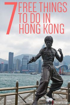 7 Free Things to Do in Hong Kong - #1 Walk along the Avenue of the Stars & pose with Bruce Lee   packmeto.com