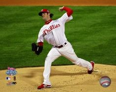 4f57e6544b6 Cole Hamels  35 of the Philadelphia Phillies throws a pitch against the  Tampa Bay Rays during game 5 of the 2008 MLB World Series at Citizens Bank  Park.